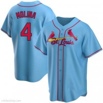 Yadier Molina St Louis Cardinals Cream Youth 8-20 Cool Base Alternate Replica Player Jersey